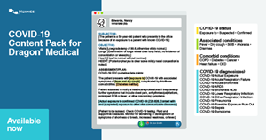 Free COVID-19 Documentation Templates for all Nuance Dragon Medical Users