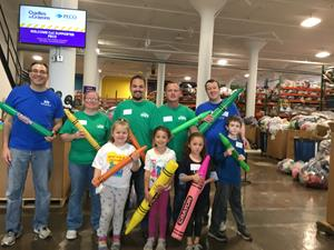 WSFS and Beneficial Associates and their children volunteered at Cradles to Crayons in Conshohocken, Pa.
