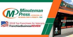Minuteman Press Top Franchise for Veterans 2018