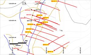 Plan Map of South Zone Drilling