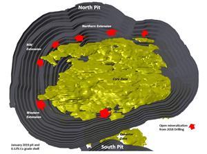 Figure 3. Open Pit Exploration Activity