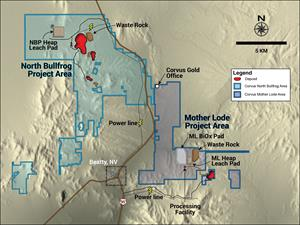 Corvus Gold Property Boundaries Sept 2019
