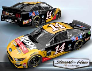 The No. 14 Rush Truck Centers/Mobil 1 Ford Mustang