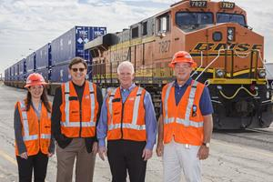 YRC Freight and BNSF Onboarding Branded Intermodal Containers