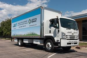 Hydrogen fuel cell-powered zero emission electric vehicle