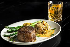 Del Frisco's Double Eagle Steakhouse Hand-Cut Filet Mignon and Lump Crab Cake