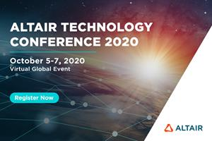 Altair Technology Conference 2020, October 5-7. Register free: https://atc2020.virtual.altair.com