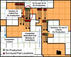 Delphi Energy Corp Pad Map