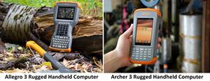 New Allegro 3 and Archer 3 Rugged Handheld Computers from Juniper Systems Limited