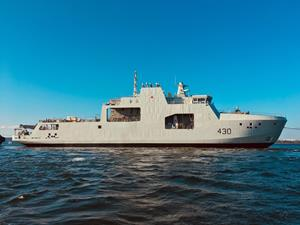 Halifax Shipyard launches Canada's lead Arctic and Offshore Patrol Vessel