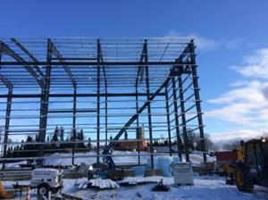 Structural Work Took Place in January and February - 1