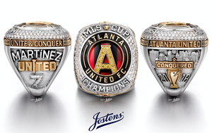 Atlanta United's 2018 MLS Cup Championship Ring, created by Jostens.