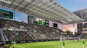 Artist's Rendering of the new Daktronics video board