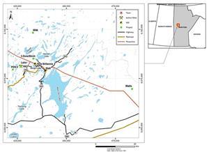 Figure 1: Snow Lake Location Map
