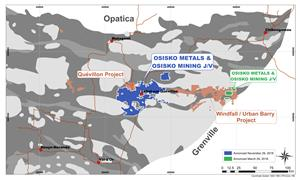 Osisko Metals/Osisko Mining JV Quevillon Base Metals Project